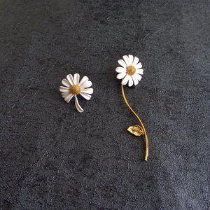 Kate Spade Simple Irregular Daisy Earrings